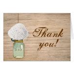 Merci rustique d'hortensia de pot de maçon de pays