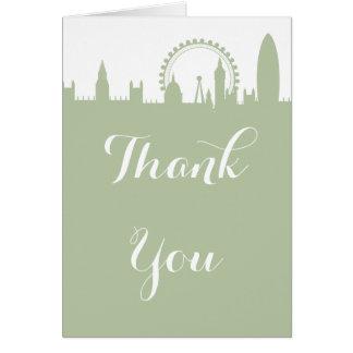 Merci sage de partie d'horizon de Londres Cartes De Vœux