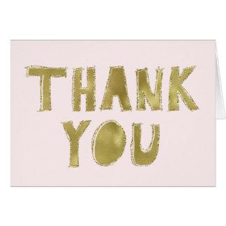 Merci scintillant fascinant rose d'or cartes