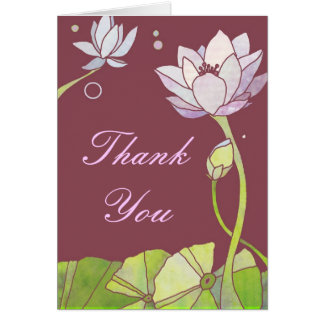 Merci sensible d'affaires de Lotus de zen Cartes De Vœux
