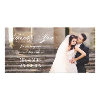 Merci simple de mariage photocarte
