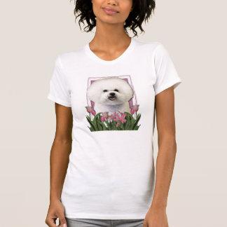 Merci - tulipes roses - Bichon Frise T-shirt