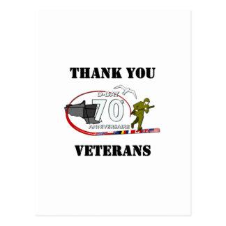 Merci vétérans - Thank you veterans Cartes Postales
