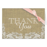 Merci vintage de baby shower de rose de dentelle cartes de vœux