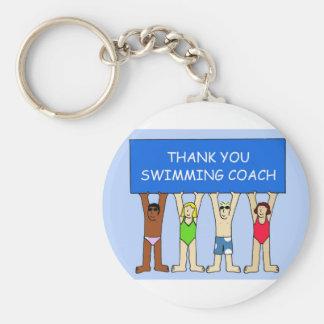 Mercis d'entraîneur de natation porte-clés