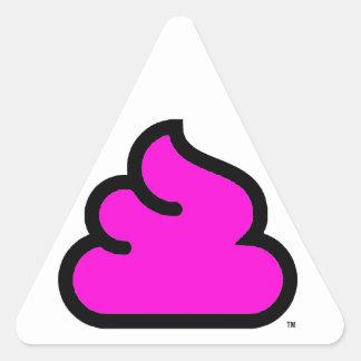 Merda Fluo Sticker Triangulaire