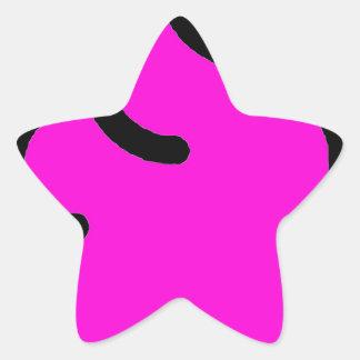 Merda Fluorescente Sticker Étoile