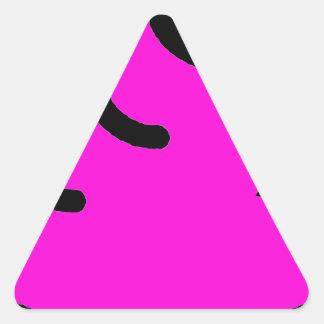 Merda Fluorescente Sticker Triangulaire
