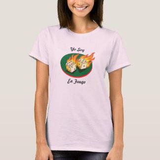 Merdes et en Fuego de soja de Gambling_Flaming T-shirt