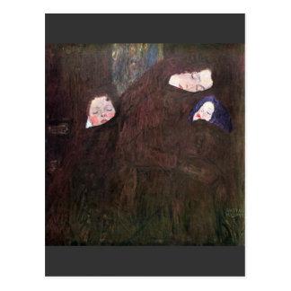 Mère avec des enfants par Gustav Klimt Carte Postale