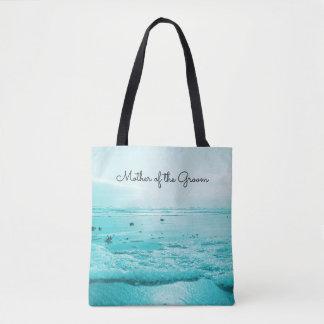 Mère bleue de plage du marié Fourre-tout de jeune Tote Bag