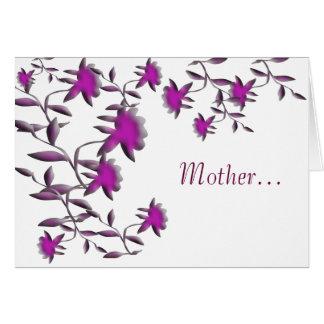 Mère… Carte De Vœux