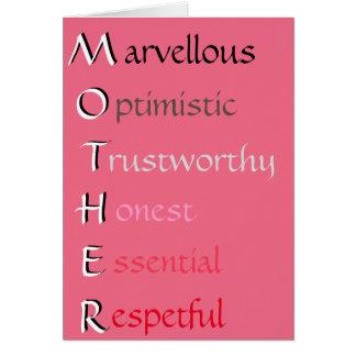 Mère Carte De Vœux