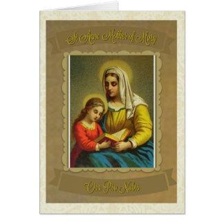 Mère catholique de St Anne de carte de note de