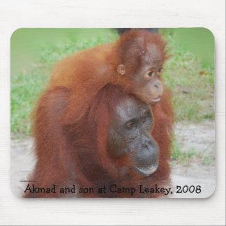 Mère célèbre d'orang-outan tapis de souris