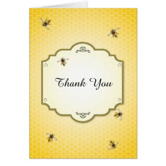 Mère d'abeille au Merci de baby shower d'abeille Cartes De Vœux