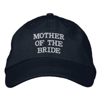 Mère de bleu marine du casquette réglable de jeune casquette brodée
