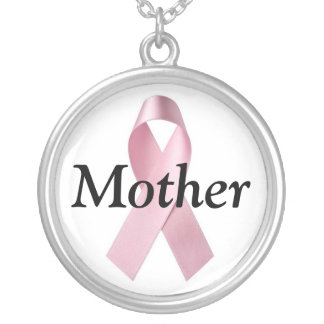 Mère de cancer du sein pendentif rond