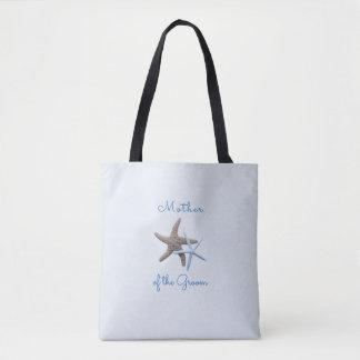 Mère de deux étoiles de mer du sac de marié/de