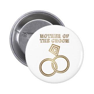 Mère de épouser romantique d'anneaux d'or de marié badges