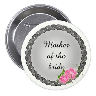 Mère de guirlande de roses roses/grand-mère grises badges