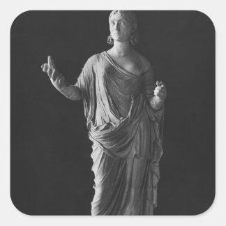 Mère de Julia Mamaea d'empereur Severus Alexandre Sticker Carré