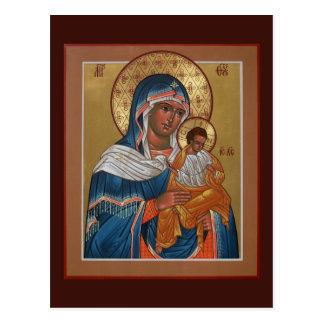 Mère de Konevitsa de carte de prière de Dieu