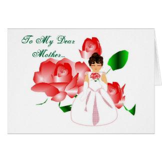 """""""Mère de Merci carte de jour du mariage de fille"""""""