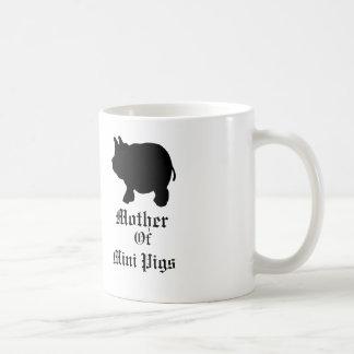Mère de mini porcs/avec le mini porc noir mug blanc