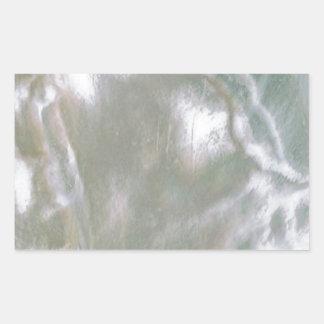 Mère de Pearl White Sticker Rectangulaire