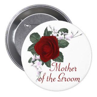 Mère de rose rouge de KRW du marié épousant le Pin Pin's Avec Agrafe