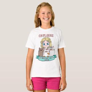 Mère de T-shirt mignon de Kawaii de chats pour des