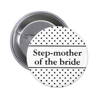 Mère d'étape du bouton de jeune mariée pour des ma badge rond 5 cm