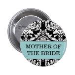 Mère du bouton de jeune mariée badge avec épingle
