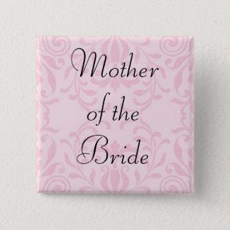 Mère du bouton de rose de jeune mariée pin's
