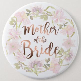 Mère du bouton floral de jeune mariée badges