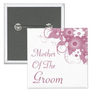 Mère du bouton mauve de bouquet de marié badges