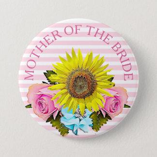 Mère du bouton nuptiale de douche de jeune mariée pin's
