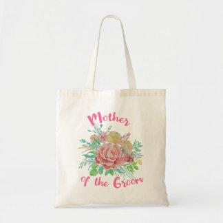 Mère du cadeau floral vintage d'aquarelle de marié sac