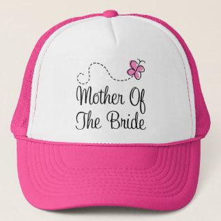 Mère du casquette de jeune mariée
