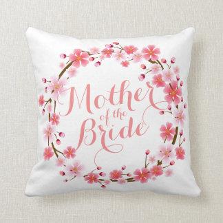 Mère du coussin de mariage de fleurs de cerisier