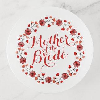 Mère du plateau élégant de bibelot de mariage de