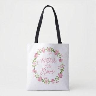 Mère du sac de guirlande d'aquarelle de marié