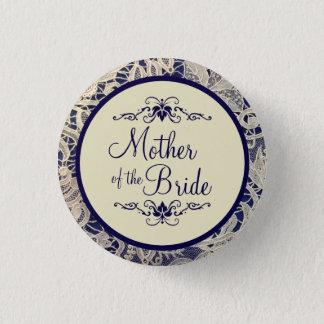 Mère ene ivoire de mariage de bleu marine de badge