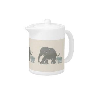 Mère et bébé naturels mignons d'éléphant de