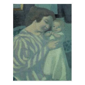 Mère et enfant carte postale