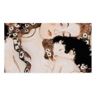 Mère et enfant Gustav Klimt Carte De Visite Standard