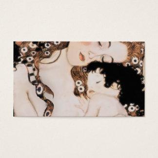 Mère et enfant Gustav Klimt Cartes De Visite