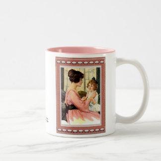 Mère et enfant mug bicolore