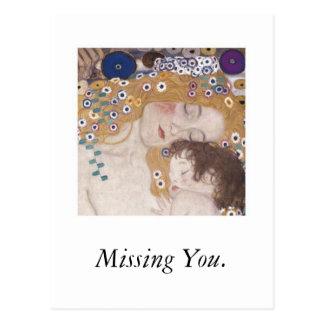 Mère et enfant, vous manquant cartes postales